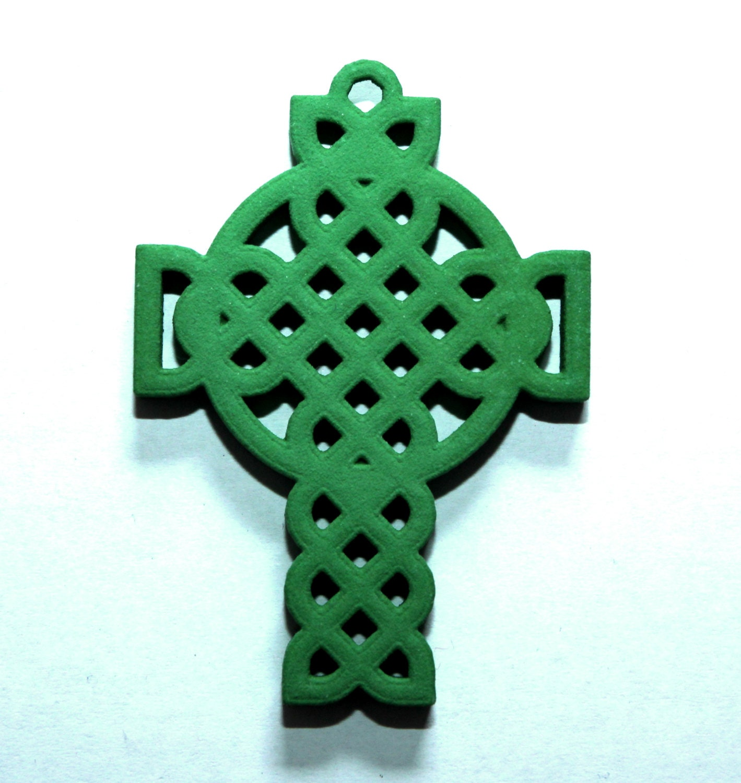 celtic cross 3d printed pendant by jvjewelers on etsy