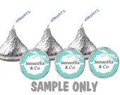 324 ct Tiffany & Co. inspired Hershey kisses labels Great for Birthday, Wedding, Bridal Shower, Baby Shower or any occasion