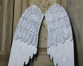 Angel wing decor, wood angel wings, angel wing wall decor, white angel wings, Mediterranea Design Studio, custom angel wings decor