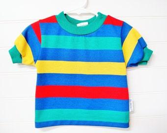 Vintage Baby T Shirt, Baby Boy T Shirt, Baby Boy Clothes, Vintage Health Tex T Shirt. #