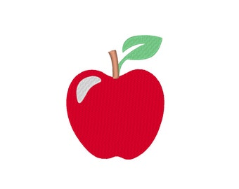 6 SIZES!! Apple MacIntosh Granny Smith Golden Embroidery Machine Design