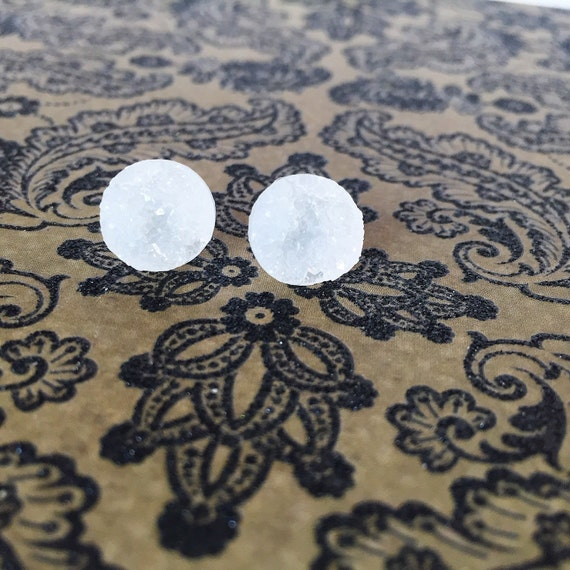 Earring posts white gold 41mm