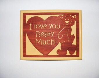 Teddy Bear, I Love You Wall Hanging