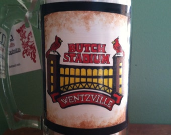 "Personalized ""Butch"" Stadium beer mug"