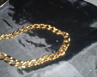 Gold Plated Linked Necklace by Monet