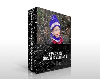 Photoshop Snow Overlay, 3 Pack