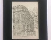 Ladurée original art pencil drawing