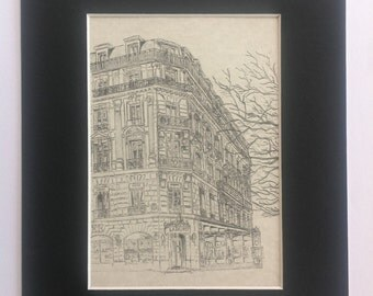 Ladurée original art pencil drawing