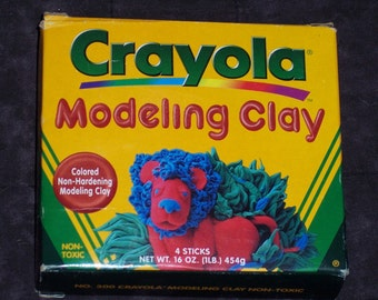 Crayola Modeling clay,non-hardening,4 colors,quarter pound sticks,primary colors,kid art,craft