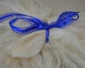 ivory cream suri alpaca locks 7-8 inches doll wigs felting