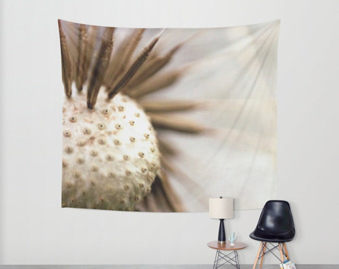 Hanging Tapestry - Wall Tapestry - Dandelion Wall Art - Nature Photo Wall Hanging - Large Wall Hanging - Home Decor - Made to Order