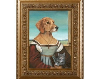 Dog Magnet, Lady Golden, Golden Retriever, Refrigerator Magnet