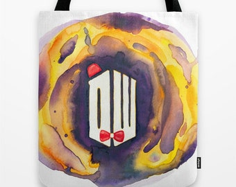 Doctor Who Tote Bag in Watercolor