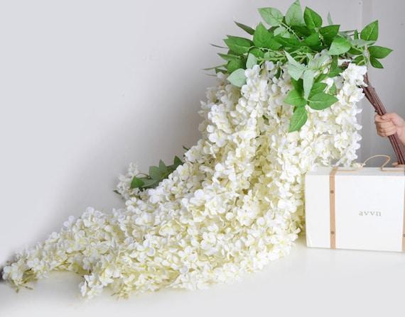 5pcs artificial silk wisteria home garden hanging flowers. Black Bedroom Furniture Sets. Home Design Ideas