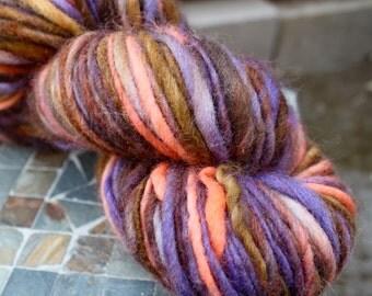 Handspun Bulky Yarn, Cheviot Yarn, Bulky Yarn, 150 yards