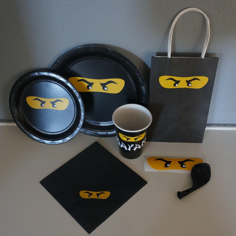 A Lego Ninjago Birthday Party: Lego Inspired Ninjago Birthday Party Vinyl Sticker Supplies
