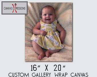 "16"" X 20""  Custom Photo Canvas Gallery Wrap Print"