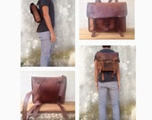 LEATHER BACKPACK, 2 sizes, leather RUCKSACK, Hipster Backpack, leather rucksack, tan Leather backpack, men's laptop bag, Leather bag