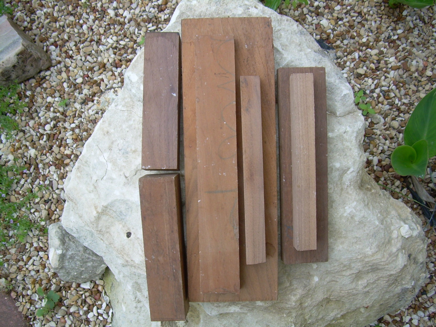 Solid walnut wood pieces woodworking lathe craft supply for Unfinished wood pieces for crafts
