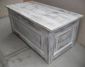 Custom made Box Bench from reclaimed wood made in the USA