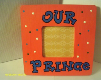 Our Prince Picture Frame Boy Orange