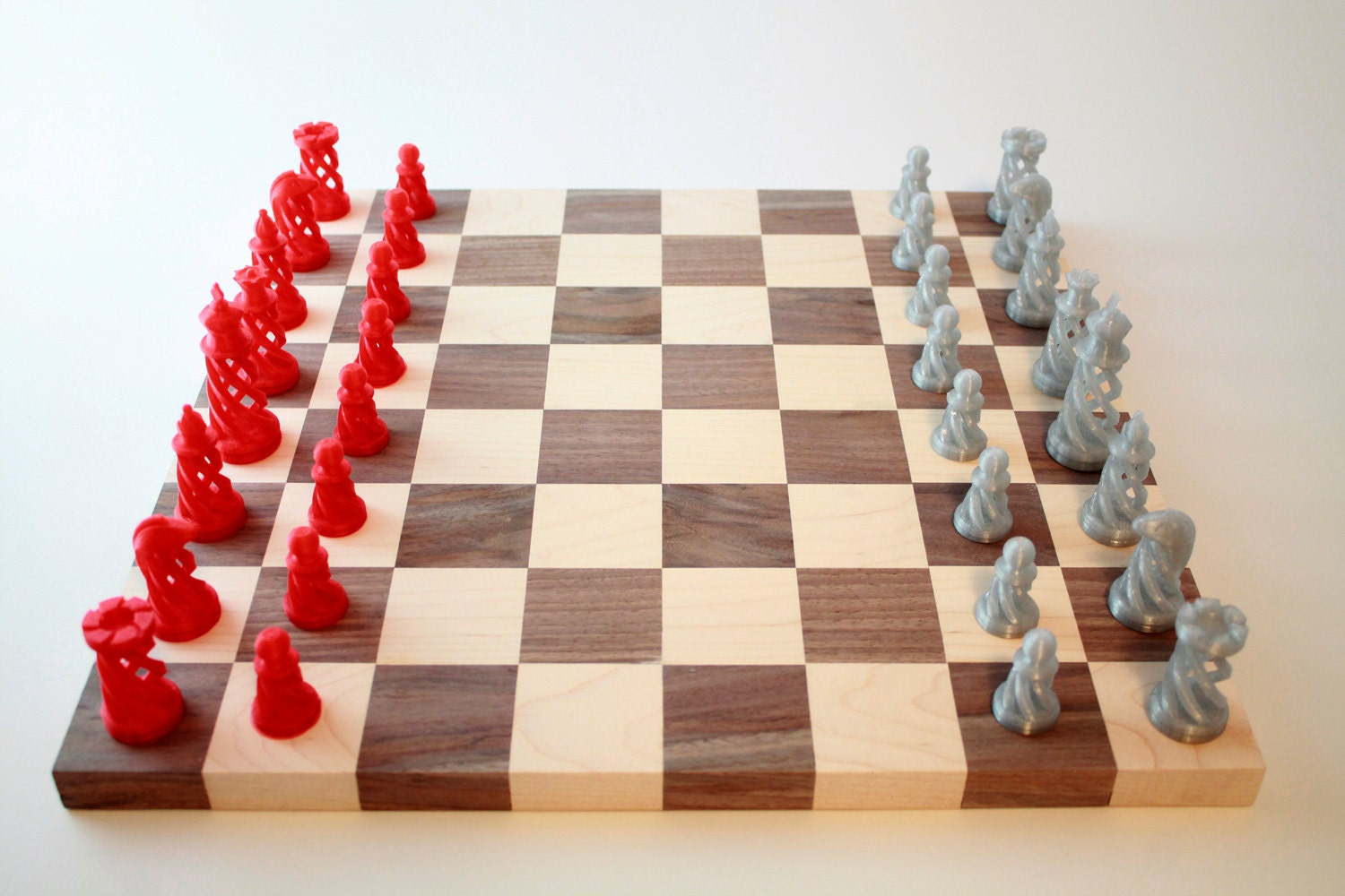 Handmade Chess Board With One Of A Kind Chess By