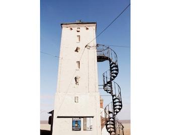 Architecture Photography - Aldeburgh Lookout Tower Fine Art Photograph - English Seaside Art - Beach House Decor - Vintage England