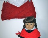 Cowl Shrugs AG Doll AND Matching Girl Cowl SET of Two Scarf Shrug Mobius Style
