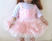 Dolls Pink Ballerina Tutu Fits 18 inch AG Doll Pink Ballerina Outfit Set of Tutu Dress, Underpants and Headband