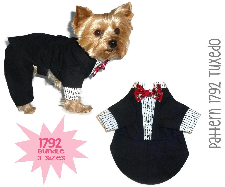 Knitting Pattern For Dogs Tuxedo : Dog Tuxedo Pattern 1792 Bundle 3 Sizes Dog by SofiandFriends
