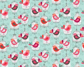 Makower birdcages fabric