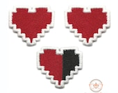 """Set of 3 """"Mini"""" Zelda """"Health Bar""""  Inspired - Iron-on Patches"""