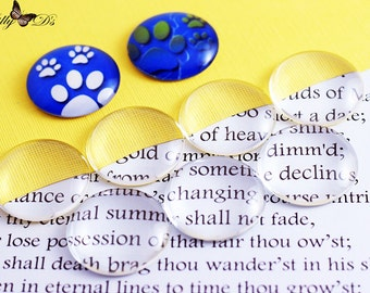 10- 30mm (1.25 inch) Round Domed Glass Cabochons - For bezel tray settings - Necklace bails - General Crafting Glass