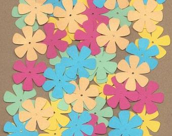 55 1.5 inch flowers South Beach Cricut  Die Cuts