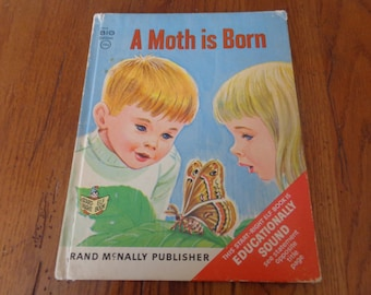 "Vintage ""A Moth Is Born"" Children's Book, Big Edition, A ""Start-Right Elf Book"", 1967 - Vintage Children's Books - Rand-McNally Book"