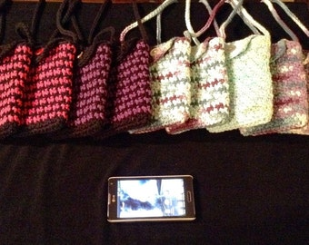 Crochet Lined Cell Phone Purse