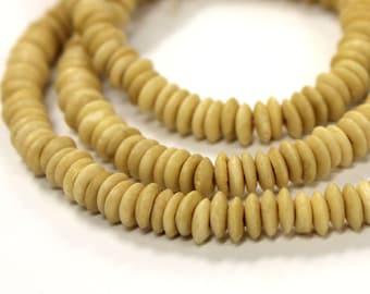 100 Pcs Bone Beads, Ivory Cream Bone Spacer Beads, Natural Bone Bead Strand, Tribal Beads, Ethnic Beads, BULK Bone Beads - BD6C