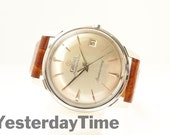 Groma Anniversary Mens Watch 1960s Swiss Made 21 Jewel Automatic Movement Stainless Steel Case