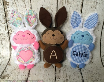 Stuffed Bunny, Plush Bunny, Easter Gift, Personalized