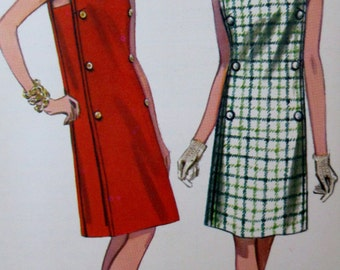 Vintage 1960s Butterick A Line Dress  Sewing Pattern #4266  Size 12  Bust Size 32**Epsteam