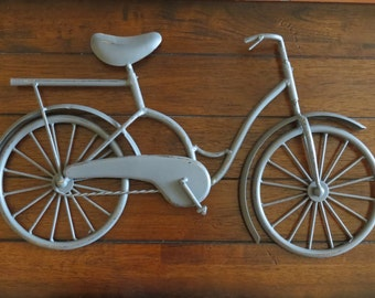 Bike Wall Decor / Bicycle Metal Wall Art / Unique Wall Idea / Metal Wall Hanging / Bike Hanging / Gift Idea / Dark Grey or Pick Color