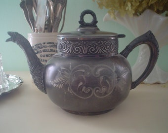 Antique Silverplate teapot Hartford Silver Co.