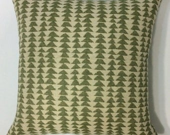 Green Diamond Woven Pillow Cover, Decorative Throw Pillows