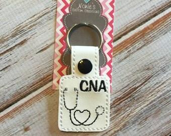 CNA Keychain - Nurse Keychain - Stethoscope Keychain - Nursing Keychain - CNA Gift - Nurse Gift