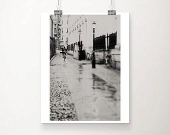 cambridge photograph bicycle photograph english decor black and white photography landscape photograph travel photography