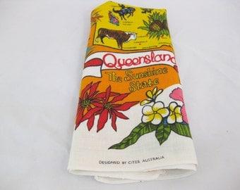 Linen Dish Towel, Queensland, by Citer Australia