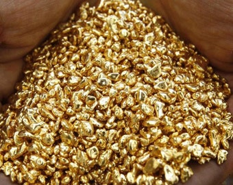 1 Gram Pure 24k yellow Gold shot, clean cast. Bullion, nuggets, grains