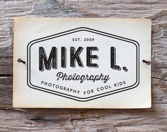 Vintage Logo Design - modern vintage illustrated logo