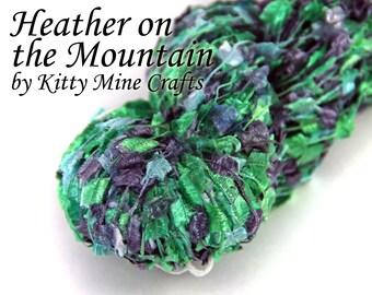 Heather on the Mountain Nylon Tuft Yarn - Phat Fiber - 147 yards - Novelty Yarn - Tuft Yarn - Carry Along Fiber - Green, Black - Scotland