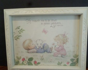 Home Interior Picture Frame with Bible Verse with Children